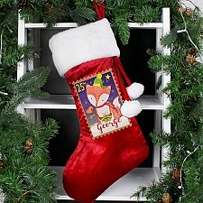 Personalised Festive Fox Luxury Stocking delivery to UK [United Kingdom]