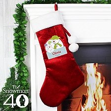Personalised The Snowman and the Snowdog Luxury Stocking delivery to UK [United Kingdom]