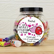 Personalised Love Monster Sweet Jar