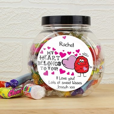 Personalised Love Monster Sweet Jar UK [United Kingdom]