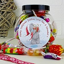 Personalised Me To You Christmas Sweet Jar delivery to UK [United Kingdom]