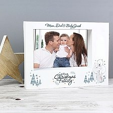 Personalised Polar Bear 1st Christmas As A Family Box Photo Frame to UK
