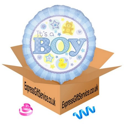 Its a Boy Blue Balloon Delivery to UK