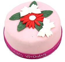 Birthday Butterfly Flowers Cake For Girl delivery to UK [United Kingdom]