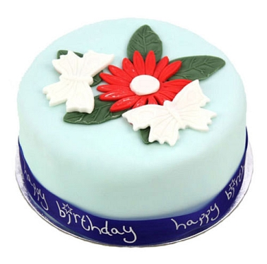 Butterflies and Flowers Cake delivery to UK [United Kingdom]
