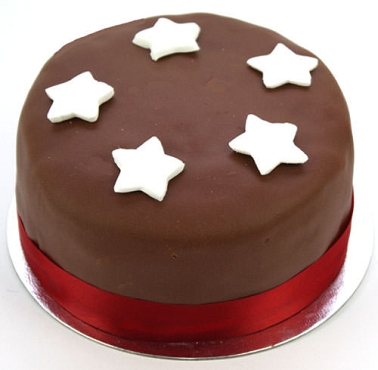 Egg Free Chocolate Star Cake delivery to UK [United Kingdom]