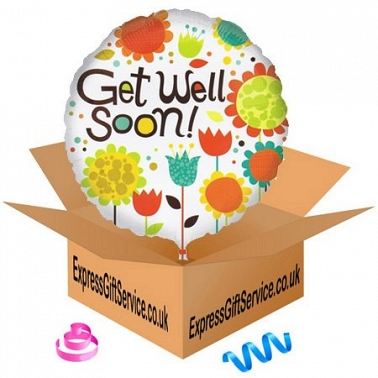 Get Well Soon Cheery Flowers Balloon Delivery UK