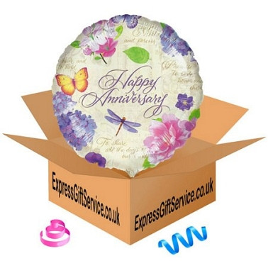 Anniversary Floral Balloon Delivery UK