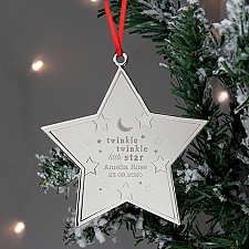 Personalised Twinkle Star Metal Decoration