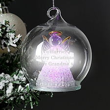 Personalised Christmas LED Angel Bauble Delivery to UK