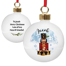 Personalised Nutcracker Bauble Delivery to UK