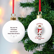 Personalised 1st Christmas Mouse Bauble