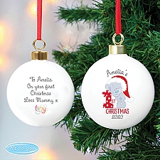 Personalised Tiny Tatty 1st Christmas Bauble Delivery to UK