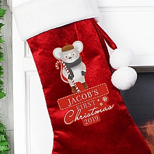 Personalised 1st Christmas Mouse Stocking