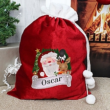 Personalised Red Christmas Santa Sack Delivery to UK