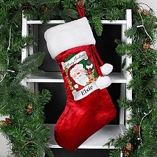 Personalised Red Christmas Santa Stocking Delivery to UK