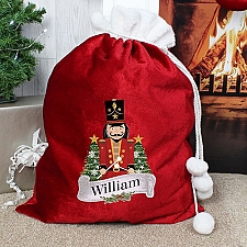 Personalised Red Nutcracker Sack Delivery to UK