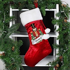 Personalised Red Nutcracker Stocking Delivery to UK