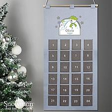 Personalised The Snowman Advent Calendar Delivery to UK