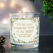 Personalised Christmas Scented Jar Candle