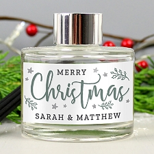 Personalised Merry Christmas Reed Diffuser