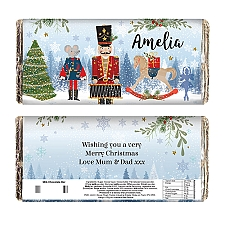 Personalised Nutcracker Milk Chocolate Bar Delivery to UK