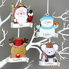 Personalised Characters Wooden Hanging Decorations Delivery to UK