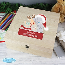 Personalised Tiny Tatty Wooden Christmas Box Delivery to UK