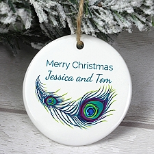 Personalised Peacock Ceramic Decoration Delivery to UK [United Kingdom]