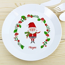 Personalised Christmas Santa Plastic Plate Delivery to UK