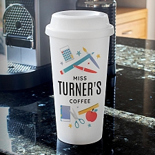 Personalised Teachers Insulated Eco Travel Cup Delivery to UK