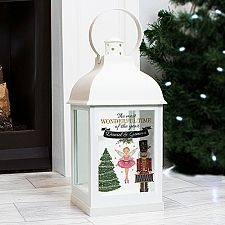 Personalised Nutcracker White Lantern Delivery to UK