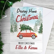 Personalised Home For Christmas Card Delivery to UK