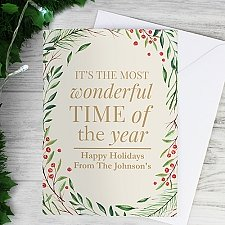 Personalised Wonderful Time of Year Christmas Card