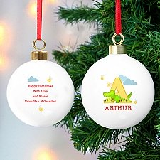 Personalised Animal Alphabet Bauble Delivery to UK