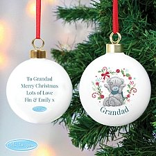 Personalised Me To You 'For Grandad, Dad' Christmas Bauble UK [United Kingdom]