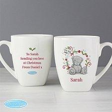 Personalised Grandma or Mum Christmas Latte Mug UK [United Kingdom]