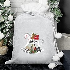 Personalised Rocking Horse Pom Pom Sack Delivery to UK