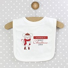 Personalised 1st Christmas Mouse Bib