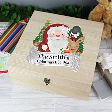 Personalised Santa Wooden Christmas Box Delivery to UK