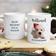 Personalised Christmas Terrier Dog Mug