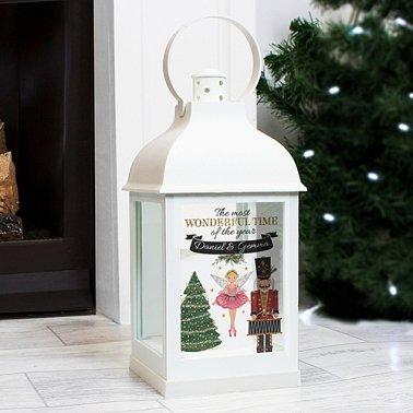 Personalised Nutcracker White Lantern Delivery to UK