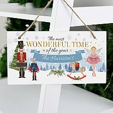Personalised Nutcracker Wooden Sign Delivery to UK