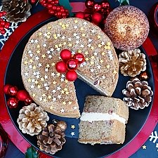 Spiced Orange and Cranberry Sponge Cake Delivery to UK