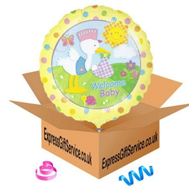 Welcome Baby Balloon gift delivery to UK [United Kingdom]