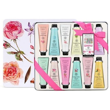 Floral Hand Butter Tubes Tin Set Delivery to UK