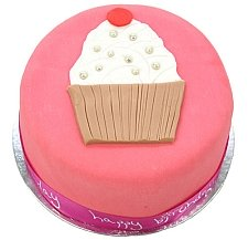 Birthday Pink Cup Cake delivery to UK [United Kingdom]