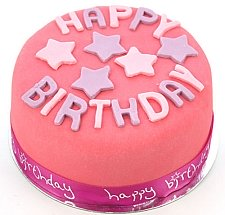 Egg Free Happy Birthday Pink Cake delivery to UK [United Kingdom]