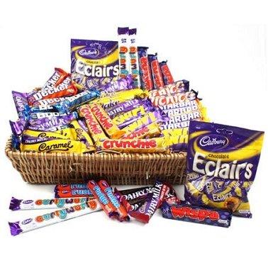 Large cadbury chocolate gift basket delivery send cadbury chocolates large cadbury chocolate basket delivery to uk united kingdom negle Images