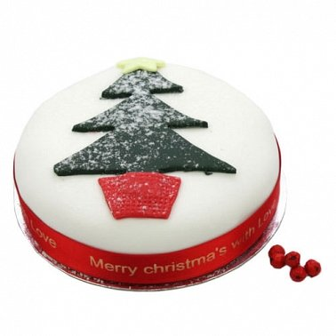 Christmas Tree Fruit Cake delivery UK
